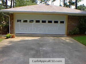 Enclosed carport in Atlanta with garage door