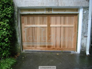 Custom, Carriage Style Garage Door and Header in Decatur, GA