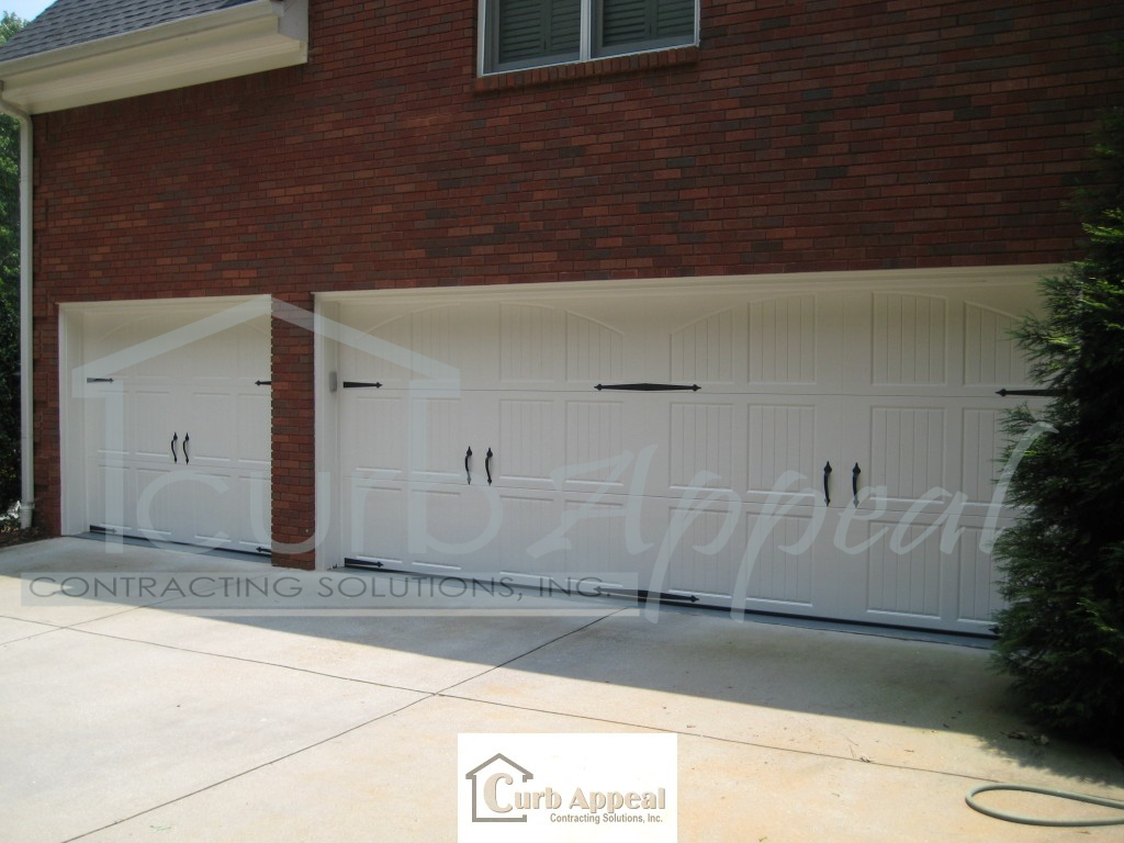 768 #866D45 Amarr Classica Garage Doors With Decorative Hardware Curb Appeal  image Amar Garage Doors 37331024