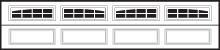 CHI Garage Door Window Inserts 2,2 Piece Arched Sunburst