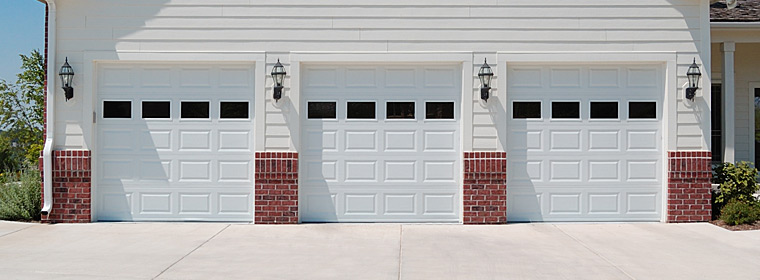 Chi Models 2283 84 And 4283 Steel Garage Doors Installed