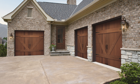 Clopay Reserve Collection Wood Garage Doors Installed In Atlanta