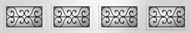 Clopay decorative wrought iron garage door windows, Orleans