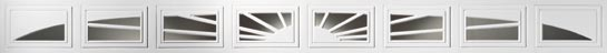 Clopay garage door decorative window inserts Sunset-505