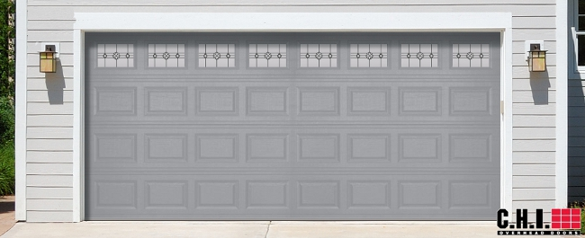 Beau CHI Steel Garage Door In Gray