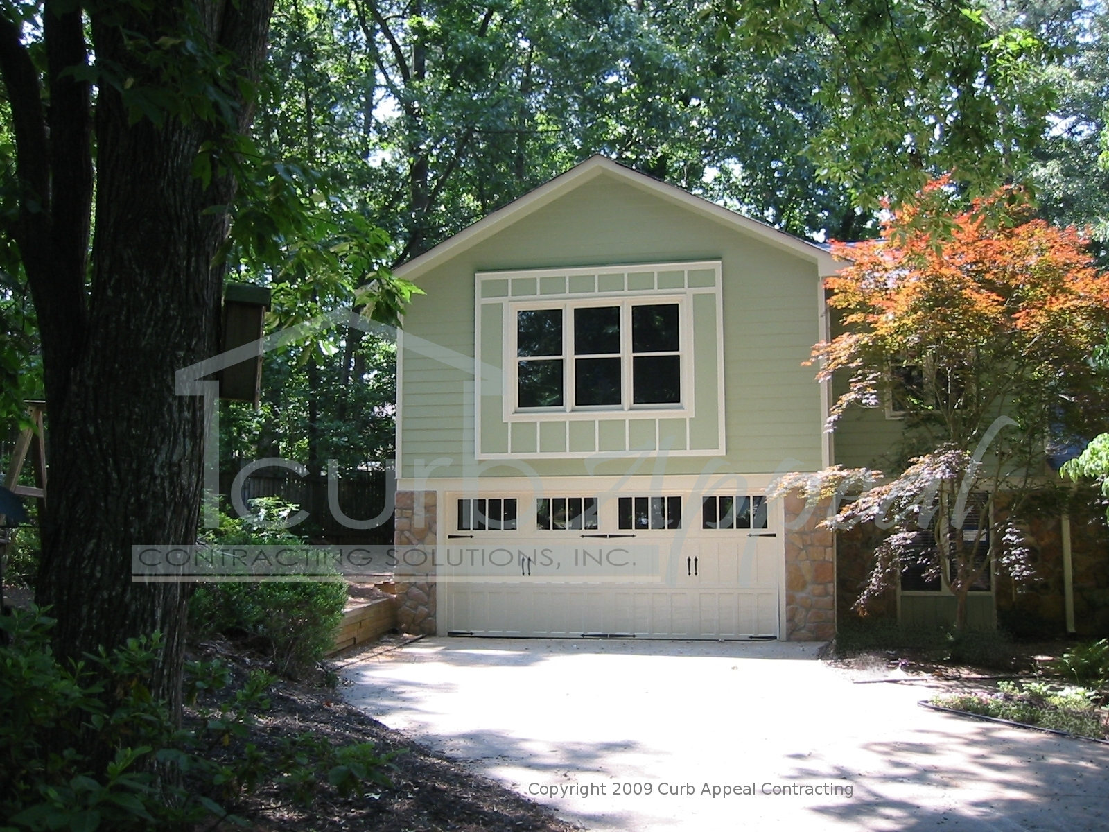 New hardiplank siding and exterior paint lawrenceville for Garage appeal coupon code