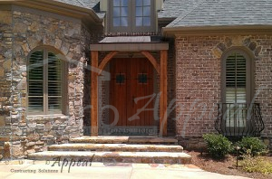 This front door in Atlanta has been re-finished to it's original condition.