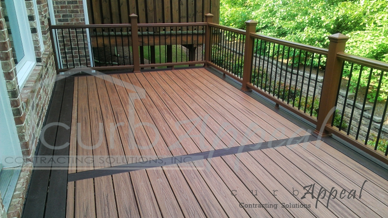 New deck using trex decking system in alpharetta ga for Balcony colour combination