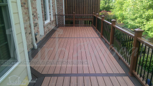 New deck built using Trex decking system.