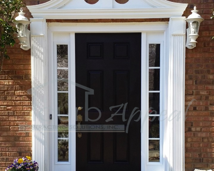New front door and sidelites installed in lawrenceville for Garage door repair lawrenceville