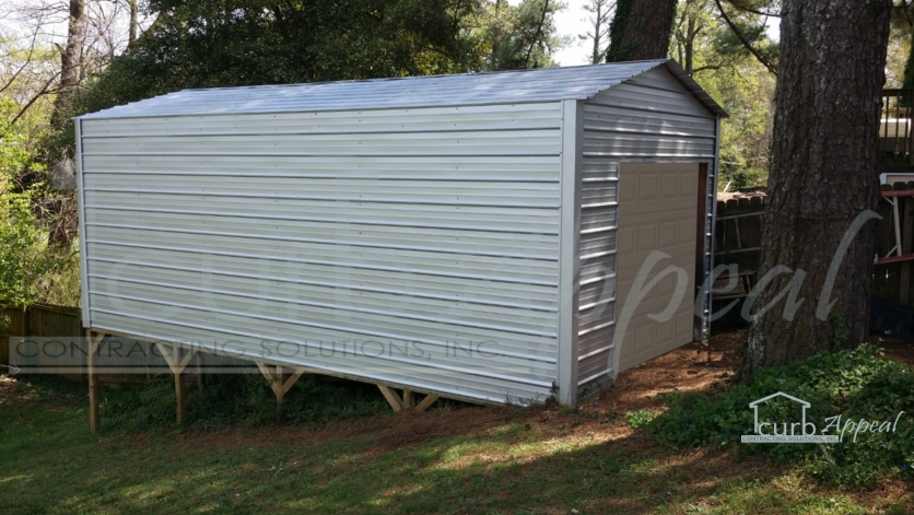 We build metal storage buildings, garages and sheds.