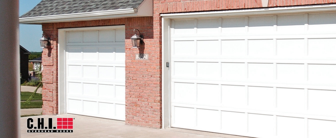 We Install Recessed Panel Steel Garage Doors Curb