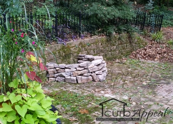 backyard firepit installtion in atlanta