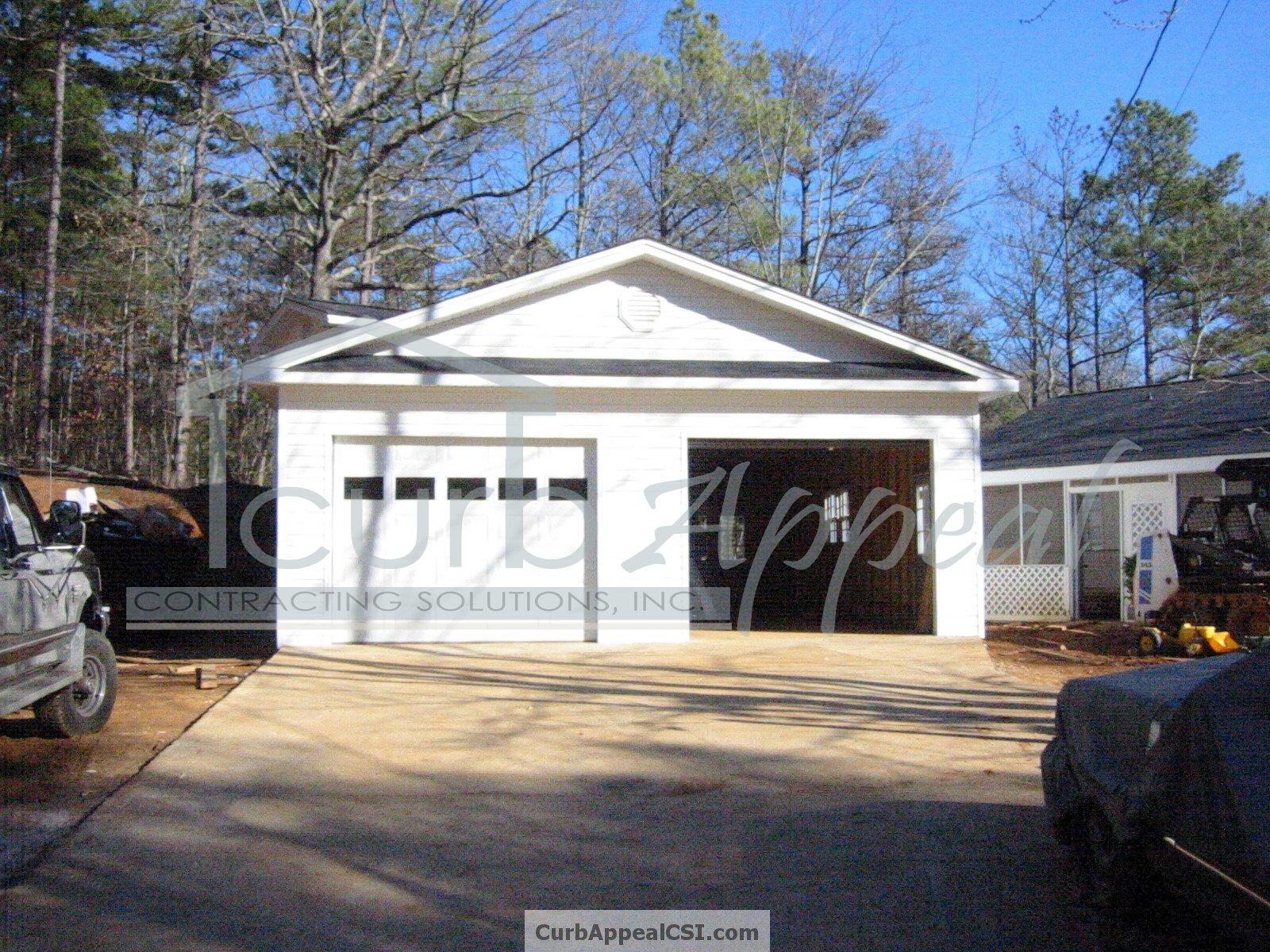 New detached garage built in Flowery Branch, GA