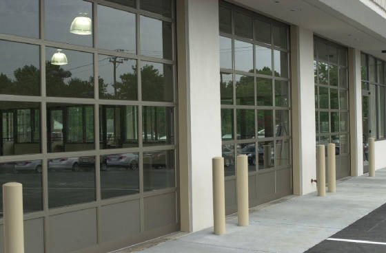 commercial see through glass garage doors atlanta