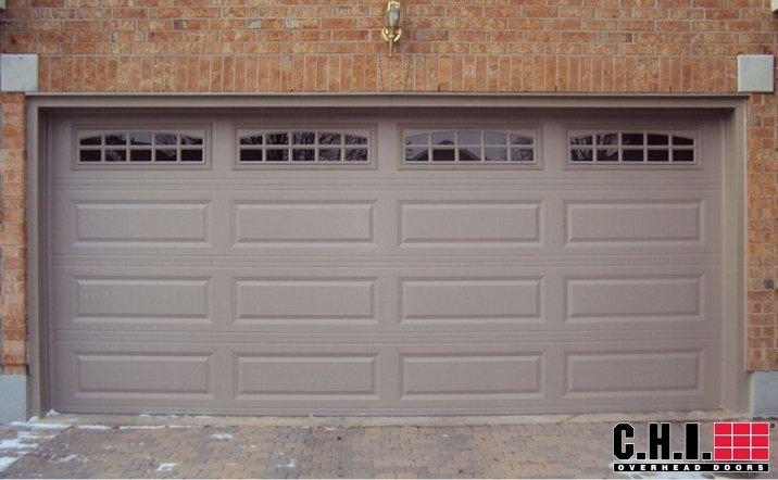CHI's model 4251 long panel garage door.