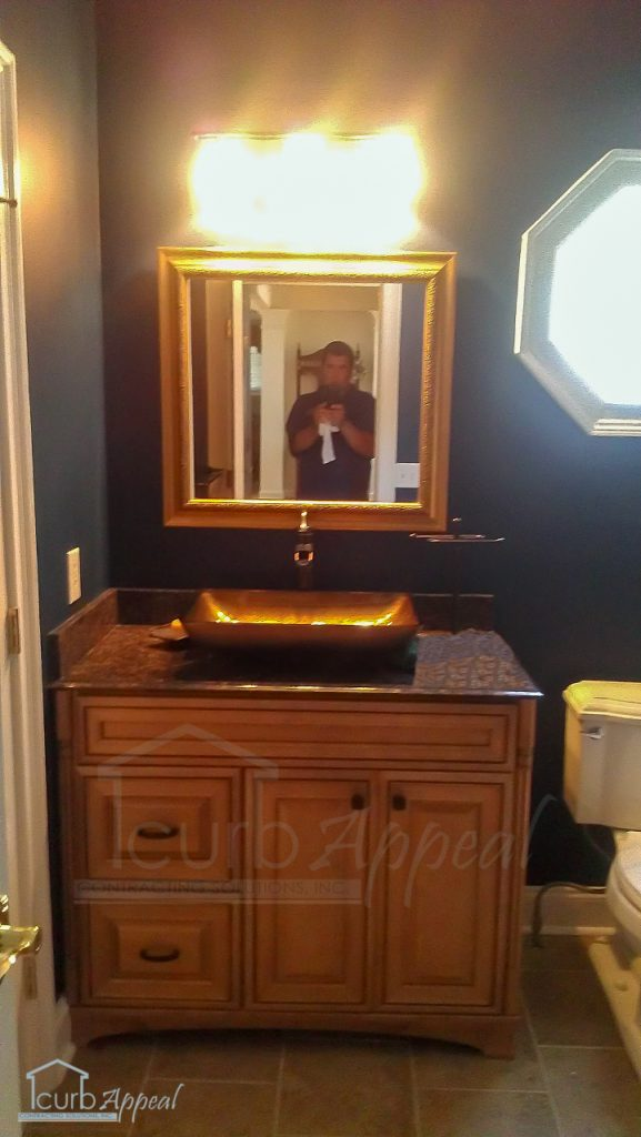 guest bathroom update at home in Duluth, GA