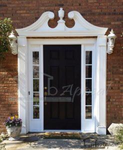 Freshly Painted Black Door With New Sidelites