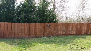 Privacy fencing installation